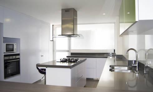 APARTAMENTO NOVARK: Cocinas de estilo moderno por santiago dussan architecture & Interior design