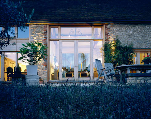 KSR Architects | Luxury barn conversion | Terrace:  Terrace by KSR Architects