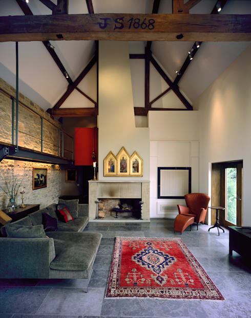KSR Architects | Luxury barn conversion | Living room: rustic Living room by KSR Architects