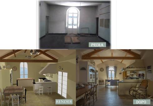 CUCINA :  in stile  di Ispirazioni d'interni Arch. Simonetta Spadelli