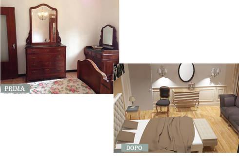 CAMERA PRIMA E DOPO:  in stile  di Ispirazioni d'interni Arch. Simonetta Spadelli