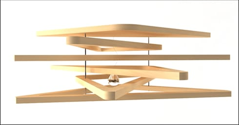 Triangulum lamp : Sala de estar  por Joana Magalhães Francisco