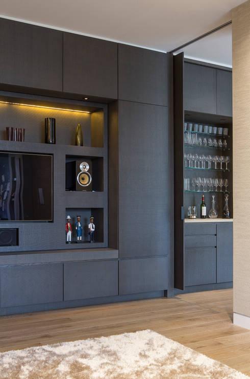 KSR Architects | Hampstead Village Home | Storage cabinet detail: modern Living room by KSR Architects