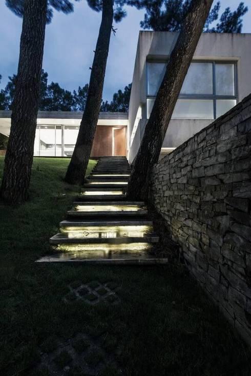 Casa Q2: Pasillos y recibidores de estilo  por Felipe Gonzalez Arzac