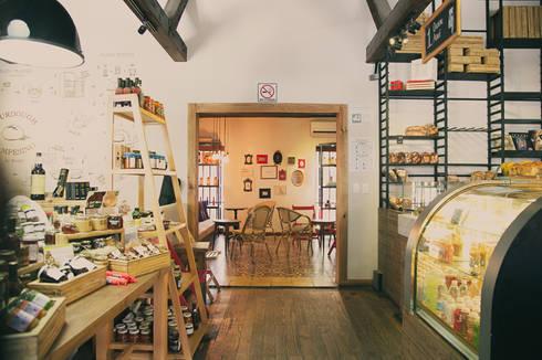 Panadería BreAd  : Restaurantes de estilo  por Nomada Design Studio