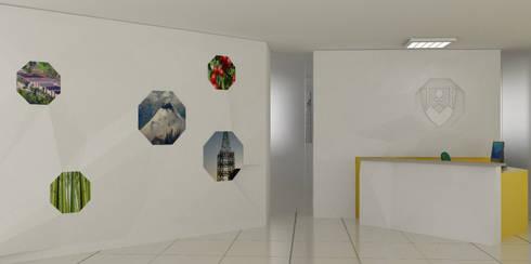 OFICINA DELEGACION DE CALDAS EN BOGOTA: Oficinas y Tiendas de estilo  por santiago dussan architecture & Interior design