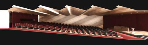 MPPB - Auditório: Salas multimídia modernas por Martins Lucena Arquitetos
