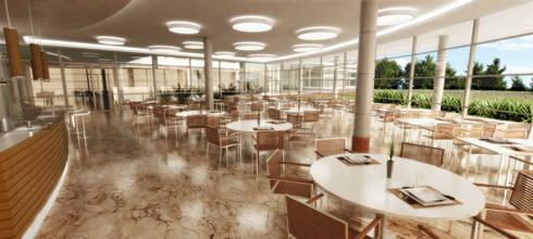 MPPB - Restaurante: Salas de jantar modernas por Martins Lucena Arquitetos