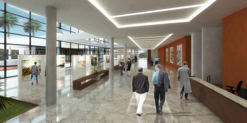 MPPB - Setor Cultural: Corredores e halls de entrada  por Martins Lucena Arquitetos