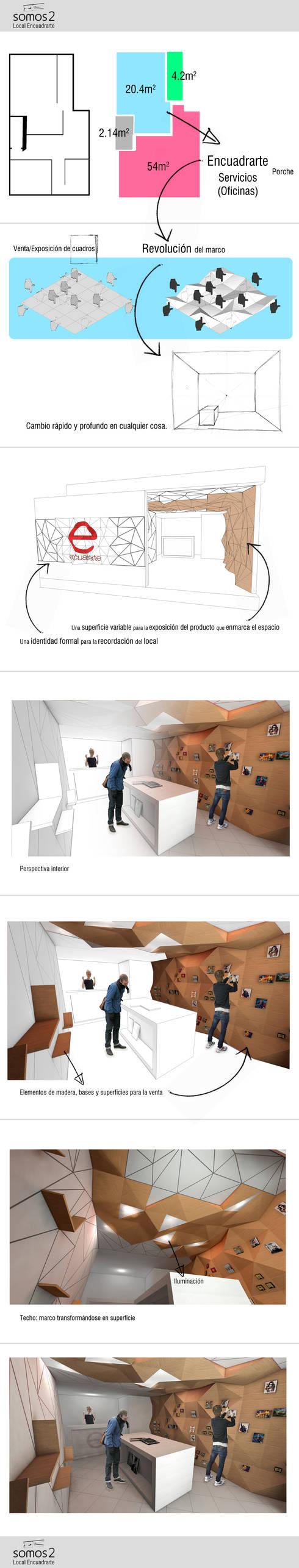 Propuesta. Diseño hallado: Oficinas y Tiendas de estilo  por somos2