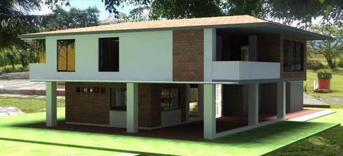 Vivienda - Vereda Cristo Rey: Casas de estilo moderno por Santiago Zuluaga Arroyave