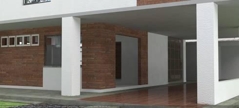 Casa Cristo Rey: Casas de estilo moderno por Santiago Zuluaga Arroyave