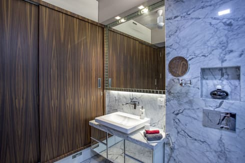 Kabra House: modern Bathroom by Spaces and Design