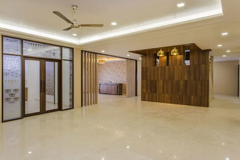 Bangalore Villas: modern Living room by Spaces and Design