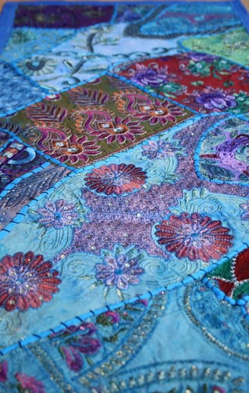 vintage sari patchwork tischl ufer und tischdecken aus indien por johanna khan homify. Black Bedroom Furniture Sets. Home Design Ideas