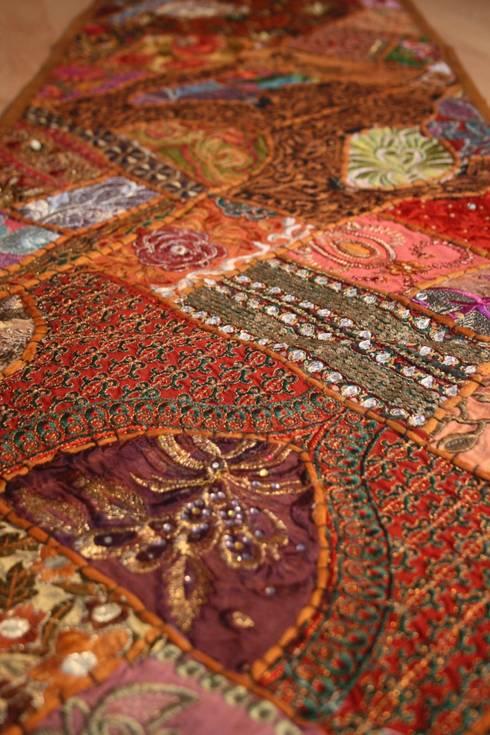 vintage sari patchwork tischl ufer und tischdecken aus indien von johanna khan homify. Black Bedroom Furniture Sets. Home Design Ideas