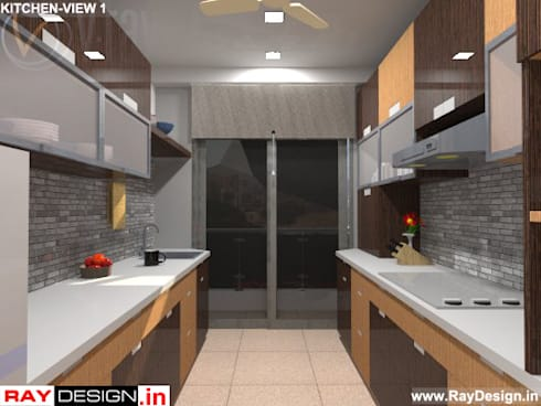 House in Mumbai: modern Kitchen by Ray Design World