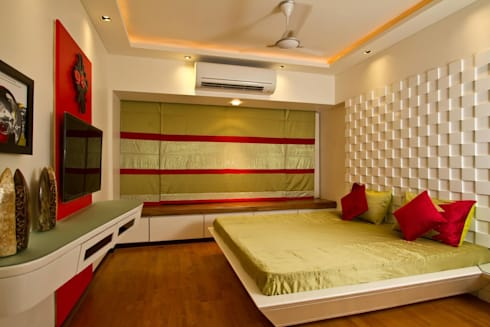 Residential project: modern Bedroom by Kunal & Associates