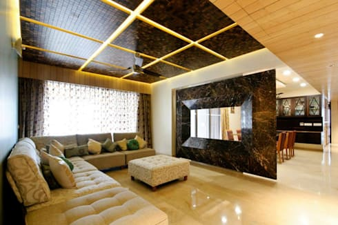 Mittal residence: modern Living room by andblack design studio