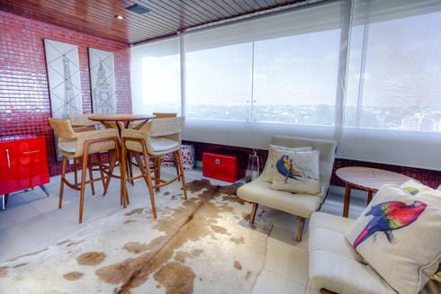 Residência Juvevê: Terraços  por VL Arquitetura e Interiores