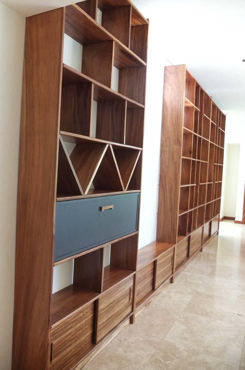 Home Library costum design: Salas de estilo minimalista por Tigra