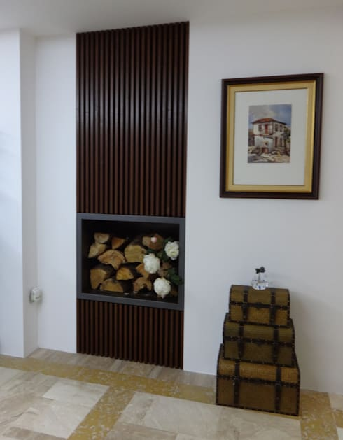 Sala de estar - Habitação Unifamiliar: Salas de estar modernas por Método-Arquitectura & Decoração