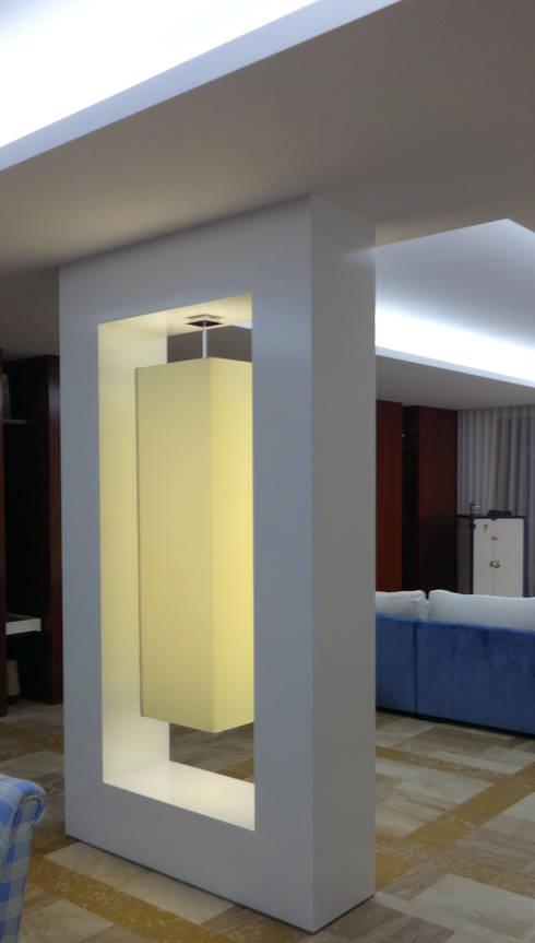 Sala de estar – Habitação Unifamiliar: Salas de estar modernas por Método-Arquitectura & Decoração