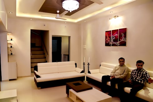 Drawing Room: modern Living room by ZEAL Arch Designs
