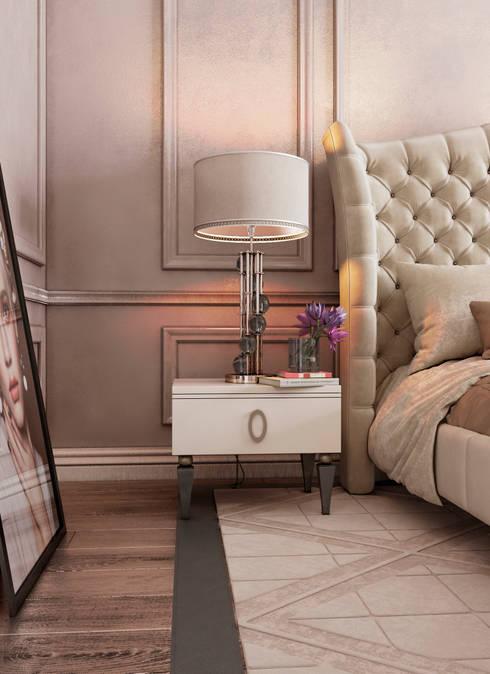 Спальня Неоклассика vol.4: Спальни в . Автор – Студия дизайна Дарьи Одарюк