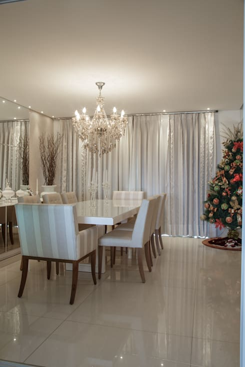 classic Dining room by Livia Martins Arquitetura e Interiores
