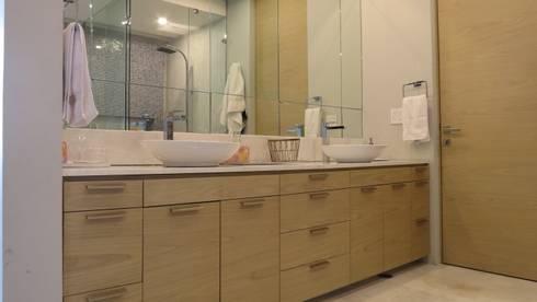 605-M: Baños de estilo  por NIVEL TRES ARQUITECTURA