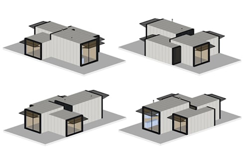 Casas modulares:   por ASVS Arquitectos Associados
