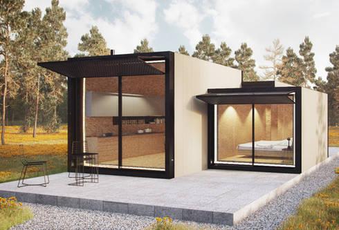 Casas modulares: Casas minimalistas por ASVS Arquitectos Associados