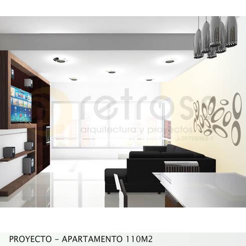 Imagen Objetivo Sala-Comedor: Salas / recibidores de estilo minimalista por retross arquitectura y proyectos