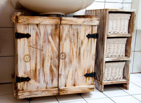 Vintage look Waschtischunterschrank by Emili Airbrush   homify