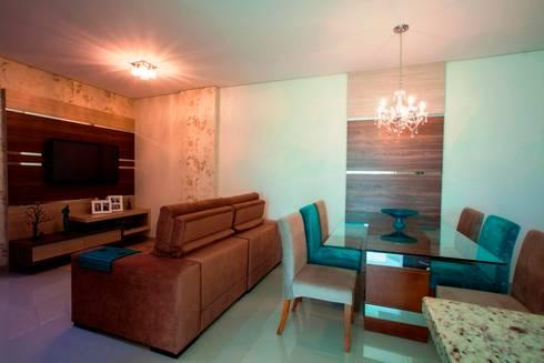 Decoração Interiores: Sala de jantar  por Janete Krueger Arquitetura e Design