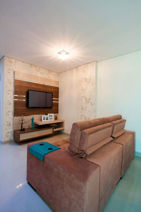 Decoração Interiores: Sala de estar  por Janete Krueger Arquitetura e Design
