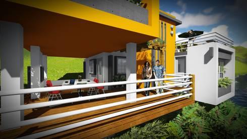 La Casa, un puerto para el disfrute del Agua.: Casas de estilo minimalista por John J. Rivera Arquitecto