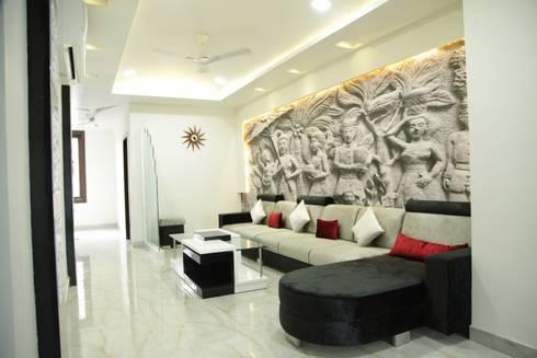 residence:  Corridor & hallway by devminterio.inc