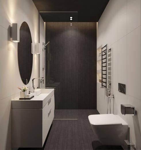 Визуализация ванной комнаты.: Ванные комнаты в . Автор – Aleksandra  Kostyuchkova