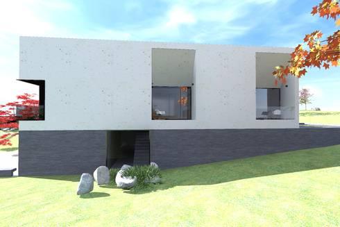 Casa J: Casas minimalistas por Colectivo de Melhoramentos