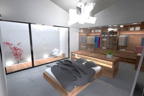 Casa J: Closets minimalistas por Colectivo de Melhoramentos
