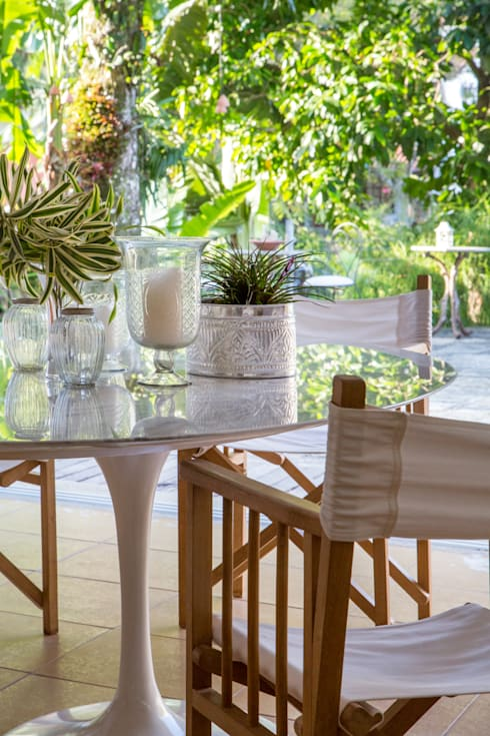 Casa Horto OBM 79: Salas de jantar tropicais por Maria Claudia Faro