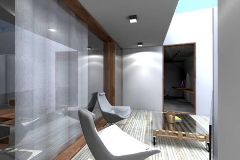 Casa ZL: Terraços  por Colectivo de Melhoramentos