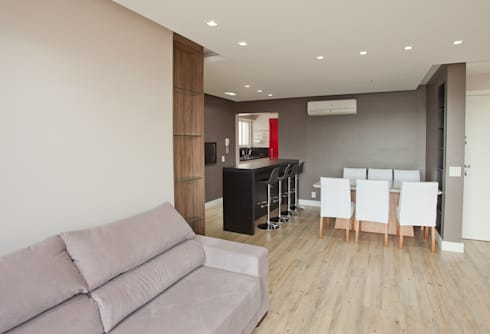 Apartamento MBK: Salas de estar minimalistas por Super StudioB