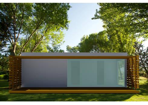 Projetos em LSF – Light Steel Framing.: Lojas e espaços comerciais  por Casas com Estilo - Obras