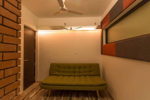 Apartment Interiors: modern Media room by Studio Stimulus