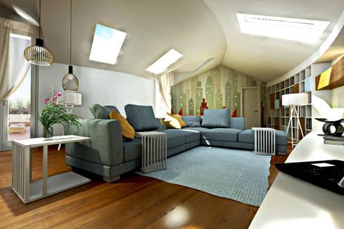 Progetto per la ristrutturazione di un grande attico con terrazzo ...