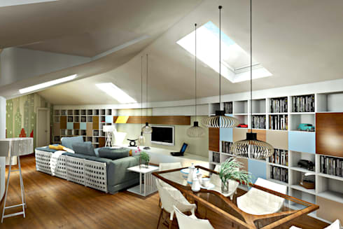 Progetto per la ristrutturazione di un grande attico con terrazzo pertinenziale di aaa - Ristrutturazione terrazzo consigli ...