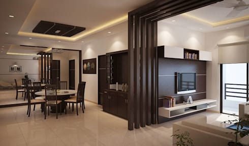 apartment at adarsh palm retreat by ace interiors homify. Black Bedroom Furniture Sets. Home Design Ideas